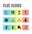 people icons set with student female grandfather vector image