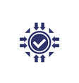 positive impact icon on white vector image
