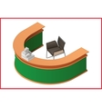 Reception flat isometric 3d vector image vector image