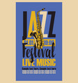 Retro poster for the jazz festival with saxophone