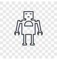 robot toy concept linear icon isolated on vector image vector image