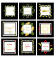 set of typographic backgrounds motivational vector image vector image