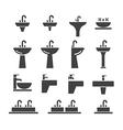 sink icon set vector image vector image