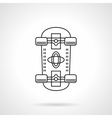 Skateboarding flat line icon vector image vector image