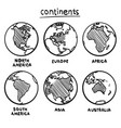 sketch drawing continents vector image vector image