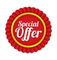 Special offer label Red sale sticker Price tag vector image vector image