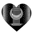 stylish monochrome plectrum for guitar vector image vector image