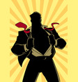 superhero under cover suit ray light silhouette vector image vector image