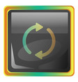 sync grey icon with colorful details on white vector image vector image