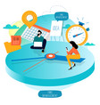 time management planning events vector image