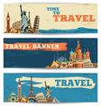 Travel baners vector image
