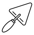 trowel icon outline style vector image vector image