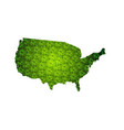 usa map with leaves vector image vector image