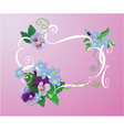 Valentines Day or Wedding card with pansy vector image vector image