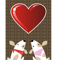 valentines dog love background vector image