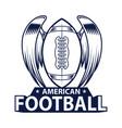 american football logo american sport style vector image