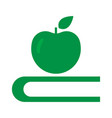 apple and book - education symbol art vector image