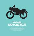 Vintage Motorcycle vector image