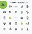 25 finance icons set investing funds assets vector image vector image