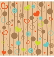 Abstract hearts background vector image