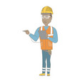 african electrician with electrical equipment vector image vector image