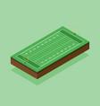 american football field isometric flat design