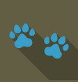 animal footprint isolated on background dog paw vector image