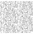 Beer theme seamless pattern outline