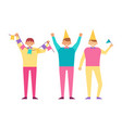 birthday party poster with man celebrating holiday vector image vector image
