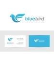 Blue bird logo vector image vector image