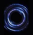 blue circle digital abstract sheet background vector image vector image