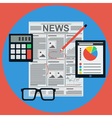 Business news vector image vector image