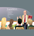 business teacher vector image