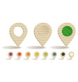 cardboard map markers vector image vector image