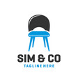 chair furniture logo design vector image vector image