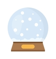Christmas crystal ball vector image