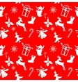 christmas icons silhouettes vector image