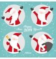 Christmas set with Santa vector image