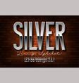 chrome metal alphabet vector image vector image