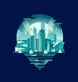 cityscape emblem night version vector image