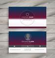 clean visit card vector image