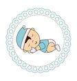 cute baby sleeping card vector image vector image