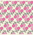 cute cherries pattern vector image vector image