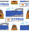 cyprus travel destination sea and old temple vector image vector image