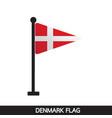 denmark flag design vector image vector image