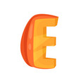 e veggie vegetable english alphabet letter made vector image vector image