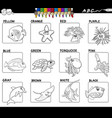 educational basic colors set color book vector image vector image