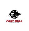 fast bull power logo designs vector image