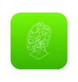 ferris wheel icon green vector image vector image