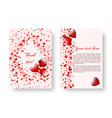 festive booklet with st valentines day vector image vector image